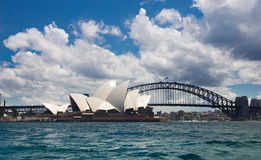 Sydney Opera House & Harbour Bridge Royalty Free Stock Photo