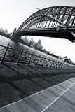 Sydney Opera House and Harbour Bridge at sundown Stock Photo