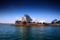Sydney Opera House Heavily Polarised and tilt shift focus to create narrow depth of field Stock Photography