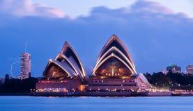 Sydney Opera House i storm Arkivbilder
