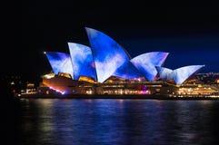 Sydney Opera House illumination Songlines During Vivid Sydney Fe Stock Image