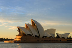 The Sydney Opera House. SYDNEY - june 28 : The Sydney Opera House with burning sky, viewed from Circular Quay in Sydney, Australia on June28, 2014 It was Stock Images