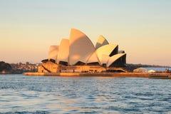 Sydney Opera House le soir Photo libre de droits