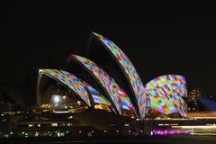 Sydney Opera House, Levendig Sydney 2014 Stock Afbeelding