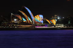 Sydney Opera House, Levendig Sydney 2014 Stock Foto's