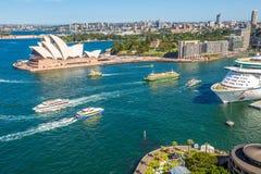 Sydney Opera House Lookout Fotografia Stock