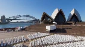 Sydney Opera House, mening van het auditorium Stock Afbeeldingen