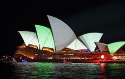 Sydney Opera House in metallic grey and green Royalty Free Stock Photography