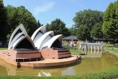 Sydney Opera House model at Minimundus, Klagenfurt Royalty Free Stock Photo
