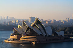 Sydney Opera House in mornning sunlight. Australian Sydney Opera House in morning sunlight Royalty Free Stock Image