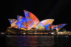 Sydney Opera House in multicolour Royalty Free Stock Images