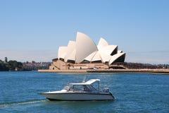 Sydney Opera House nella sera fotografia stock