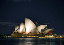 Sydney opera house at night in australia Stock Image