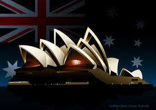 Sydney opera house at night Royalty Free Stock Photography