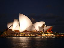 Sydney Opera House at night Stock Photography