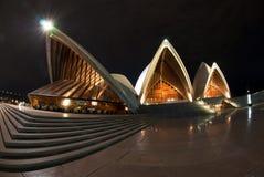 Sydney Opera House At Night fisheye Stock Photography