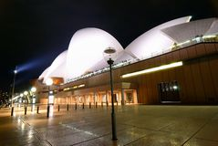 Sydney Opera House At Night fisheye Stock Photos