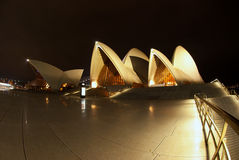 Sydney Opera House At Night fisheye Stock Photo