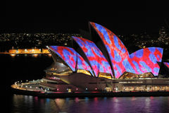 Sydney Opera House by Night Stock Images