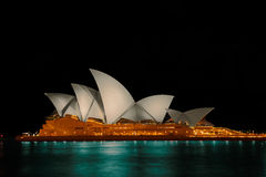 Sydney Opera House at night. Sydney Opera House. Sep 27,2016 Sydney Opera House Sydney,Australia is famous art center.Over 10 millions tourists visit Sydney a Stock Image