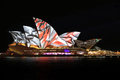 Sydney Opera House Night Vivid Light Festival Stock Photos