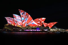 Sydney Opera House Night Vivid Light Festival Stock Photo