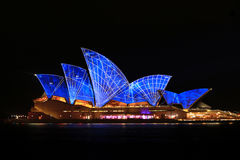 Sydney Opera House Night Vivid Light Festival Stock Photography
