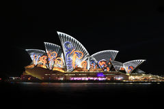 Sydney Opera House Night Vivid Light Festival Royalty Free Stock Images