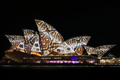 Sydney Opera House Night Vivid Light Festival Royalty Free Stock Photo