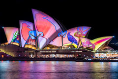 Sydney Opera House pendant le festival vif de Sydney photographie stock