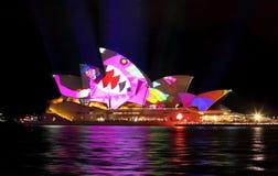 Sydney Opera House pendant Sydney vif image libre de droits