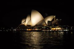 Sydney Opera House. Photo of Sydney Opera House at Night Sydney from Harbour Royalty Free Stock Image