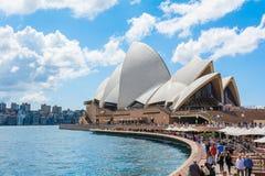 Sydney Opera House-promenade, Australië royalty-vrije stock fotografie