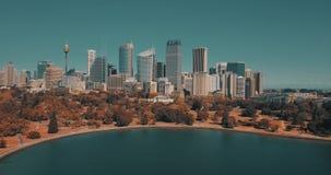 Sydney Opera House-satellietbeeld van de helikopter stock videobeelden