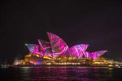 Sydney Opera House su Sydney viva 2017 Fotografie Stock