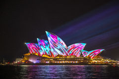 Sydney Opera House su Sydney viva 2017 Fotografia Stock Libera da Diritti