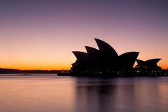 Sydney Opera House At Sunrise Stock Afbeelding