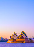 Sydney Opera house at sunrise Stock Images