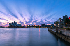 Sydney Opera House at sunrise in Sydney Australia. NOV 11,2016 The Sydney Opera House is a famous arts center.Over 10 millions tourists visit Sydney a year Royalty Free Stock Photos