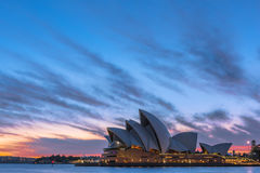 Sydney Opera House at sunrise in Sydney Australia. NOV 11,2016 The Sydney Opera House is a famous arts center.Over 10 millions tourists visit Sydney a year Royalty Free Stock Photography