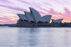 Sydney Opera House at sunrise in Sydney Australia. NOV 11,2016 The Sydney Opera House is a famous arts center.Over 10 millions tourists visit Sydney a year Stock Photos