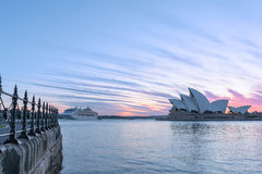 Sydney Opera House at sunrise in Sydney Australia Stock Photo