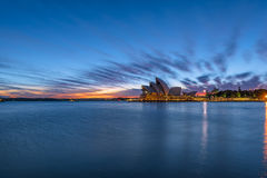 Sydney Opera House at sunrise in Sydney Australia. NOV 11,2016 The Sydney Opera House is a famous arts center.Over 10 millions tourists visit Sydney a year Stock Images