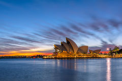 Sydney Opera House at sunrise in Sydney Australia. NOV 11,2016 The Sydney Opera House is a famous arts center.Over 10 millions tourists visit Sydney a year Stock Photography