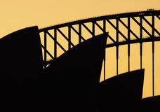 Sydney Opera  House in Sunset Stock Photo