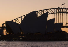 Sydney Opera House in sunset Royalty Free Stock Photos