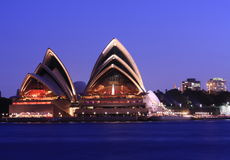 Sydney Opera House at sunset. On 21 March 2009 Stock Photo