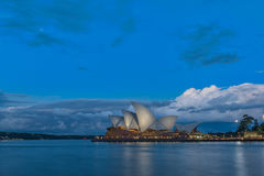 Sydney Opera House at sunset. In Sydney,Australia.Oct 17,2016 Sydney Opera House is famous arts center. Over 10 millions tourists visit Sydney a year Royalty Free Stock Photos