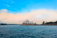 Sydney Opera House at sunset. Sydney Opera House Sydney Australia.Oct 08,2016 Sydney Opera House is famous arts center. Over 10 millions tourists visit Sydney a Stock Images