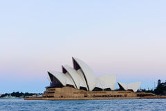 Sydney Opera House at sunset. Sep,13,2016.The Sydney Opera House,Sydney,Australia is famous art center.Over 10 millions tourists visit Sydney a year Royalty Free Stock Photos